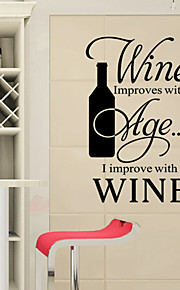 Wall Stickers Wall Decals Style New Wine English Words & Quotes PVC Wall Stickers