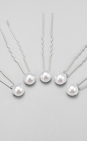 Women's/Flower Girl's Alloy/Imitation Pearl Headpiece - Wedding/Special Occasion Hair Pin 5 Pieces