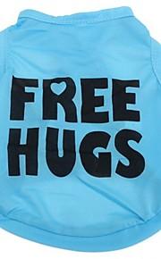 Azul - Boda/Cosplay - Terylene - Camiseta - Perros/Gatos -