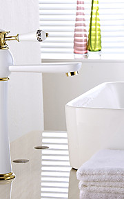 מיקסר פליז ציור עכשווי חם וקר ידית אחת גבוהה אמבטיה אגן ברז הכיור