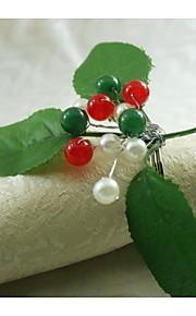 anillo de vacaciones decoración servilleta, acrílico, 1.77inch, juego de 12