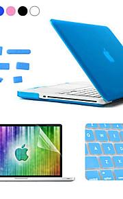 Enkay 4 i en matt hårt skyddsfodral + skärmskydd + tangentbord film + anti-damm pluggar till MacBook Pro 15,4 tum