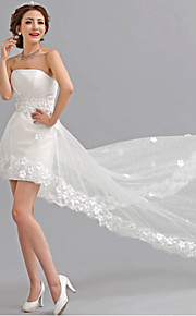 Robe de Mariage - Blanc Trapèze Sans Bretelles Asymétrique Asymétrique