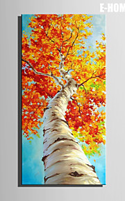 e-Home® venytetty kankaalle art punaisia puun lehdet sisustusmaalaus yksi kpl