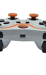 6 akse trådløs Bluetooth controller og oplader kabel til ps3 konsol spil (assorterede farver)