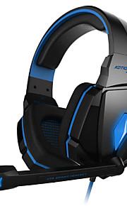 kotion hver G4000 stereo gaming hovedtelefon med mikrofon lydstyrkeregulering