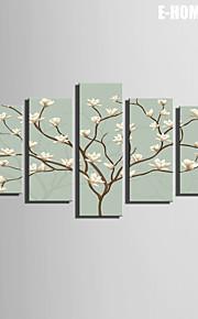 e-Home® venytetty kankaalle taide Valkoiset kukat koriste maalaus sarja 5