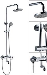 mural simple poignée rotation de 180 ° bec pluie robinet de douche serti de 8 pouces abs gris douche de tête et douche à main