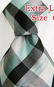Men's Casual Checked Green Ties