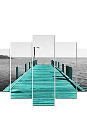 visuell star®giclee havet landskap sträckta canvas utskrift för hem