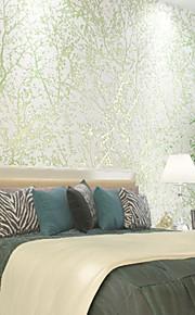 nouveau fond arc-en-™ arbres 3d de papier peint de la forêt rurale / feuilles de revêtement mural, arbres / feuilles de papier non-tissé