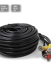 tycocam 30m CCTV surveillance camera video en audio powe verlengkabel pre-made all-in-one BNC RCA-kabel
