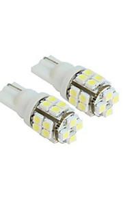 lorcoo ™ 2 x T10 20-SMD 1210 witte LED autolichten lamp 194 168 2825 5W