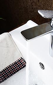 moderne krom messing varmt og koldt enkelt håndtag badeværelse vask vandhane håndvaskarmatur
