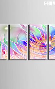 e-Home® venytetty kankaalle taiteen loistava kukka koristelu maalaus sarja 4