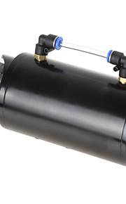 alluminio billet rotondo serbatoio 750ml motore da corsa nero fermo dell'olio serbatoio / can