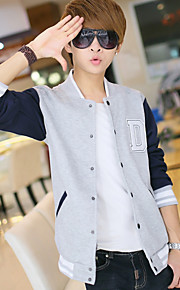 Young men in the spring and autumn coat tide male han edition student clothes boy baseball cardigan fleece single male