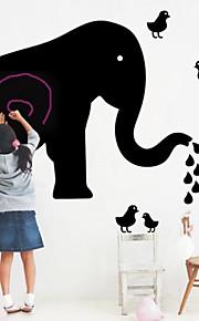 elefante negro pvc amiga do ambiente adesivo de parede