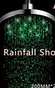 8 pouces LED douche avec 3 changement de couleur conduit douche à effet pluie