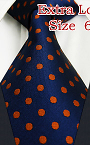 Men's Business Dots Navy Blue Ties