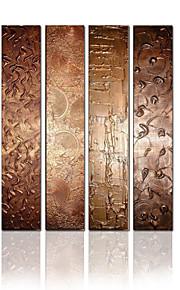 visuele star®4 pannel opgespannen doek olieverf abstracte muur decor doek kunst klaar te hangen