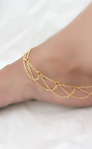 Tassel Reticulation Shoes Chain Anklet Decorative Accents for Shoes One Piece