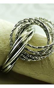 металла салфетка кольцо, железо, 1.77inch, набор 12
