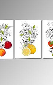 star®fruit visuelle dans l'eau toile tendue impression fraise de citron photo murale prêt à accrocher