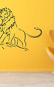 벽 스티커 벽 데칼 스타일 사자 PVC 벽 스티커