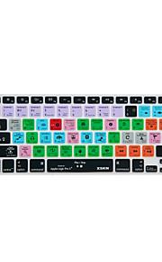 XSKN Logic Pro x 10 snelkoppeling overlay siliconen toetsenbord dekking voor macbook pro lucht netvlies 13 '' 15 '' 17 ''