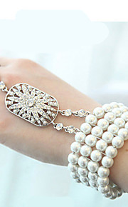 Pearl Rhineston Bracelet Wrist Corsage Ring for Party & Wedding (1 pc)