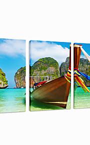 visuelle paroi star®boat art de la décoration triptyque toile de la mer impression prêt à accrocher