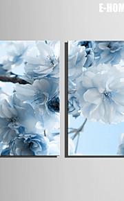 e-Home® venytetty kankaalle art vaaleansininen kukkia koriste maalaus joukko 2