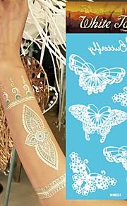 King Horse®Henna Stickers  Non Toxic/Wedding /Hawaiian/Waterproof Flower Series Paper 5pcs