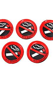 5 pezzi in plastica morbida nessun segno di fumare finestra parete autoadesivo dell'automobile decalcomania