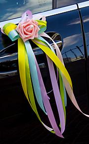 Candy Color Multicolor Flower Decoration Car Rearview Mirror & Door (14*43cm)