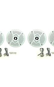 2Pairs(320Watts) 4inch 2 Way Marine Boat Waterproof Speakers for Outdoor Marine Boat SPA UV-Proof