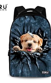 FOR U DESIGNS Unisex Dog Take Me Fly Polyester Sports Laptop Backpacks