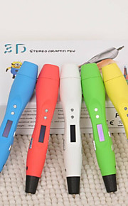 Smart Kids Toy  OLED Screen 3D Printing Pen Drawing Doodle Pen (Assorted Color)