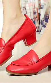 Customizable Women's Dance Shoes Modern Leatherette Chunky Heel Pink/Red/White