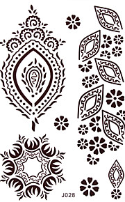 BlackLace Henna Indian Body Temporary Sexy Tattoos Sticker For Women,Teens,Girls J028