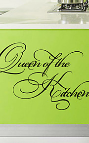 Wall Stickers Wall Decals Style Queen of The Kitchen English Words & Quotes PVC Wall Stickers