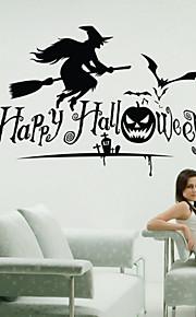 벽 스티커 벽 데칼 스타일의 할로윈 마녀 PVC 벽 스티커