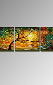visuell star®modern abstrakt heldig treet lerret oljemaleri håndmalte fag stil klar til å henge