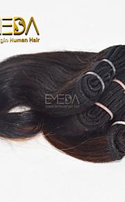 новые модные 3шт / установить человеческий волос ткать короткое 80г мокрый волнистые естественный цвет # 1b 8inch 6 цветов Доступный