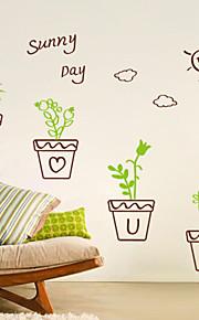 Botanisch / Cartoon Design / Romantik / Mode / Formen Wand-Sticker Flugzeug-Wand Sticker , PVC 40CM×30CM×0.1CM