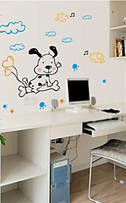 애니멀 / 카툰 / 패션 벽 스티커 플레인 월스티커 , PVC 70CM×50CM×0.1CM
