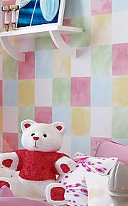 Géométrique Papier peint Contemporain Revêtement , Intissé children nonwoven wallpaper