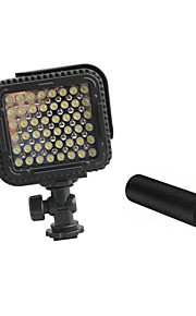 cn-lux480 48 leds video licht foto lamp voor canon nikon camera video camcorder 5600K / 3200K met metalen handvaten