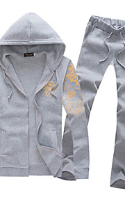 Masculino Sets activewear Casual Estampado Algodão Manga Comprida Masculino